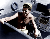 I10097 -John F. Kennedy, in the cockpit of PT109